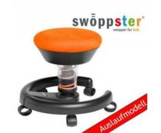 * Kinderstuhl / Rollhocker SWOPPSTER Microvelours juicy-orange