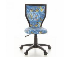 Kinderschreibtischstuhl / Kinderstuhl KIDDY LUX Aquarium Stoff blau Schreibtischstuhl hjh OFFICE