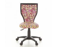 Kinderschreibtischstuhl / Kinderstuhl KIDDY LUX Smileys Stoff pink/gelb hjh OFFICE