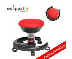 * Kinderstuhl / Rollhocker SWOPPSTER Microvelours cherry-red