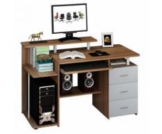 Computertisch / Schreibtisch STELLA Nussbaum mit Standcontainer hjh OFFICE