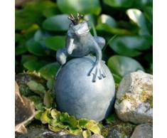 Gartenfigur Froschkönig Knut