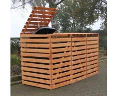 Mülltonnenbox Vario V für 3 Tonnen, honigbraun
