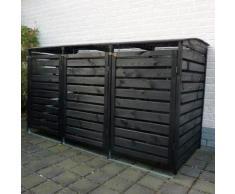 Mülltonnenbox Vario III für 3 Tonnen, anthrazit
