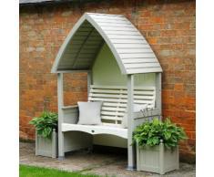 Gartenlaube-Set Cottage, hellgrau-creme