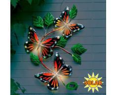 Wanddeko Solarleuchte Schmetterling
