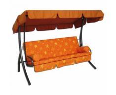 Komfort-Hollywood-Schaukel, 3-sitzig Farbe orange