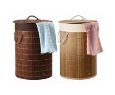 MIOMARE® Bambus-Wäschetonne