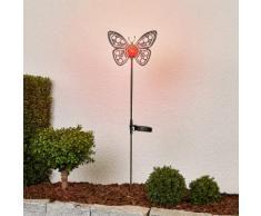 Schöne LED-Solarlampe Schmetterling zur Deko