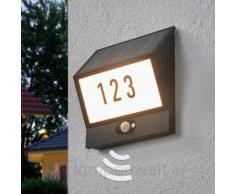 Solarbetriebene Hausnummernleuchte Inessa, Sensor