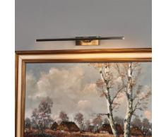 Emilias - nickelfarbene LED-Bilderlampe