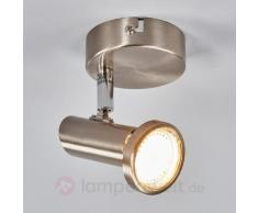 Nickelfarbener LED-Wandstrahler Cosma