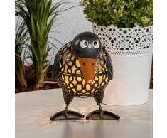 Lustige Solarleuchte Ente mit LEDs