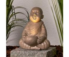 Dekorative LED-Solarlampe Little Buddha