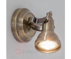 LED-Wandstrahler Perseas, altmessing