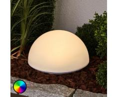 Hübsche RGB-LED-Solarlampe Lounis
