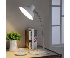 Weiße LED-Schreibtischleuchte Cayetana