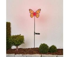 Gelbe LED-Solarleuchte Schmetterling
