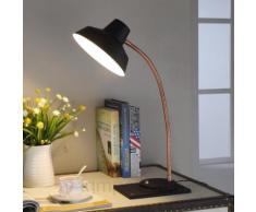 Schwarze LED-Schreibtischlampe Cayetana