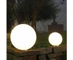 Epstein-Design Snowball Ortsfest Bodenleuchte, 5 m Zuleitung, weiß, mittelgroß: 500 mm