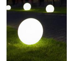 Epstein-Design Snowball Ortsveränderlich Bodenleuchte, 5 m Zuleitung, weiß, klein: 400 mm