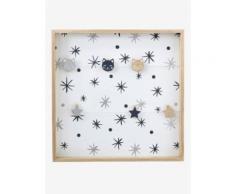Vertbaudet Kinderzimmer-Pinnwand aus Holz natur/weiß Gr. ONE SIZE