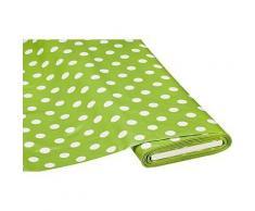 Abwaschbare Tischwäsche - Wachstuch Tupfen, grün/weiß