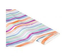 Abwaschbare Tischwäsche - Wachstuch Streifen pastell, bunt