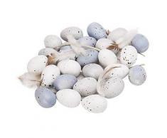 Ostereier, blau/weiß/grau, 24 Stück
