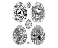 Silikonstempel-Set Ostereier