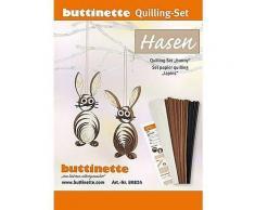 Quilling-Set Hasen, braun-creme, 10 Stück
