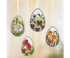 buttinette Aufhänger Ostereier mit Blumen