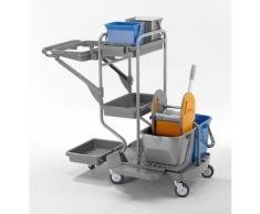 QUIPO Kunststoff-Reinigungswagen - Set mit 2 x 6