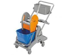 QUIPO Kunststoff-Reinigungswagen - 1 x 15-l-Einfachfahreimer LxBxH 810