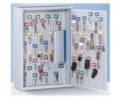 QUIPO Schlüsselschrank - lichtgrau RAL 7035 HxBxT 350