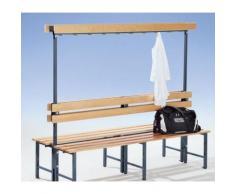 Garderobenbank mit Hakenleiste und Holzleisten - ohne Schuhrost,
