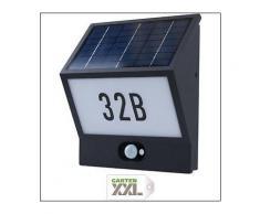 Hochwertige Solar LED Hausnummernleuchte ANDREA mit 210 Lumen + Bewegungsmelder, Heitronic