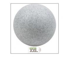 Kugelleuchte Gartenkugel MUNDAN granit Außenleuchte Leuchtmittel liegt der Kugelleuchte bei, Heitronic, Grau