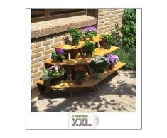 Blumentreppe mit Eckelement, braun, Promadino, Braun
