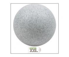 Kugel-Lampe Gartenkugel MUNDAN granit Außenleuchte Kugel Kugelleuchte, Heitronic, Grau
