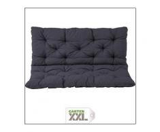 Auflage für Bank mit Rückenteil Sitz und Rückenkissen mit Bänder Polsterauflage Bankauflage, grau, ca. 150 x 98 x 10 cm, Meerweh, Grau