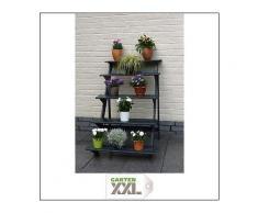 Promadino, Blumentreppe groß anthrazit, Grau