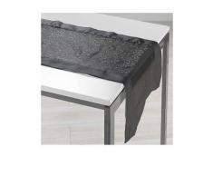 Douceur d'Intérieur Tischläufer in Schwarz | Größe 40x140 cm