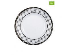 """Luminarc 6er-Set: Suppenteller """"Tiago"""" in Weiß - Ø 22 cm   Größe onesize"""