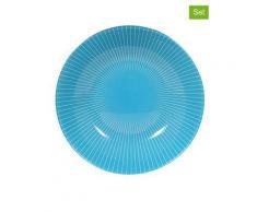 "Luminarc 6er-Set: Suppenteller ""Amori"" in Hellblau - (H)4 x Ø 20 cm | Größe onesize"
