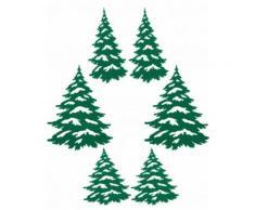 Weihnachtsbaum-Aufkleber Dekoration 6 Stück Einheitsgröße