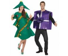 Weihnachtsbaum und Geschenk Kostüm für Paartner Einheitsgröße