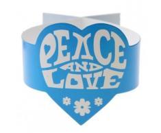6 Serviettenringe im Hippie-Stil Peace and Love Einheitsgröße