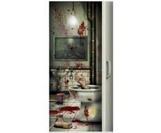 Halloween Blutiges Badezimmer Türdeko Einheitsgröße