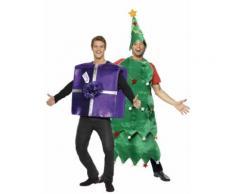 Weihnachtsbaum und Weihnachtsgeschenk-Paarkostüm Einheitsgröße